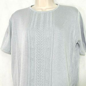 Alfred Dunner Knit Top Sweater Women Size PXL